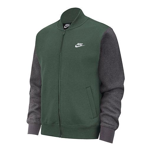 nike fleece bomber jacket