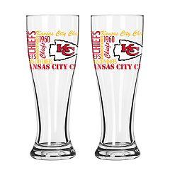 Boelter Kansas City Chiefs Spirit Pilsner Glass Set