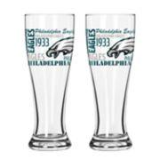 Boelter Philadelphia Eagles Spirit Pilsner Glass Set