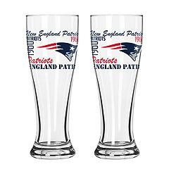 Boelter New EnglandPatriots Spirit Pilsner Glass Set