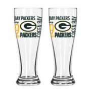 Boelter Green Bay Packers Spirit Pilsner Glass Set