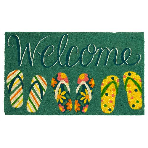 63cae8c86 Mohawk® Home Welcome Summer Flip Flops Doormat