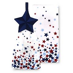 Celebrate Americana Together Star Tie-Top Kitchen Towel 2-pk.