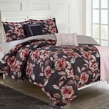 Company Ellen Tracy Reversible Fleur Du Jour Comforter Set