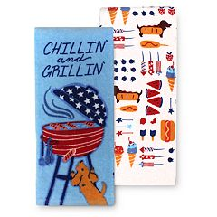 Celebrate Americana Together Chillin' & Grillin' Kitchen Towel 2-pk.