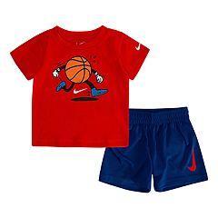 Toddler Boy Nike Basketball Ball Tee & Shorts Set