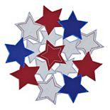 Celebrate Americana Together Cut-Out Stars Placemat