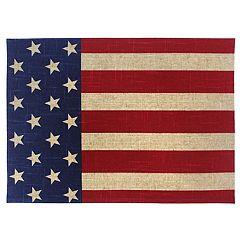 Celebrate Americana Together Burlap Placemat
