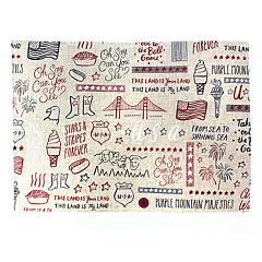 Celebrate Americana Together Word Toss Placemat