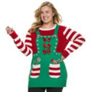 Plus Size Women's Holiday Tunic