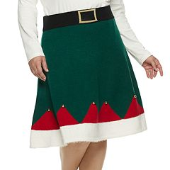 Plus Size Women's Holiday Skirt