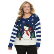 Plus Size Women's Holiday Crewneck Sweater