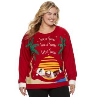 Plus Size Women's Holiday Crewneck Sweater