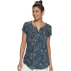 2a09fa49ea4fb2 Blue SONOMA Goods for Life T-Shirts Short Sleeve