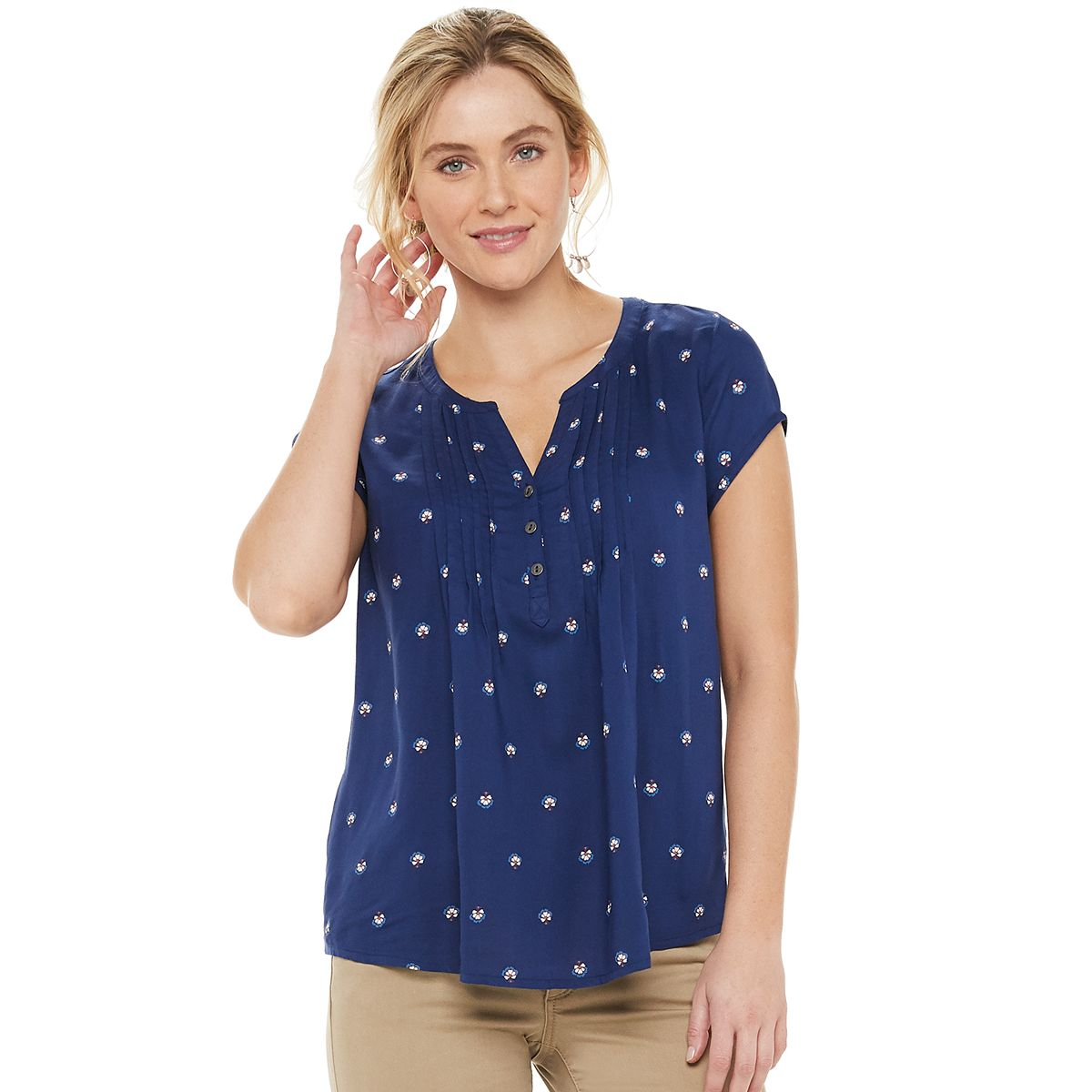 SONOMA Goods for Life Pintuck Womens Tee