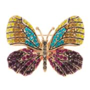 Napier Gold Tone Butterfly Pin