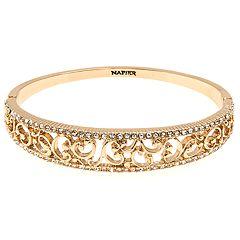 Napier Crystal Filigree Bracelet
