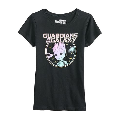 Girls 7-16 Guardians of the Galaxy Groot Graphic Tee