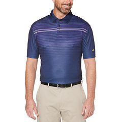 Men's Jack Nicklaus Regular-Fit StayDri Gradient-Striped Heather Performance Golf Polo
