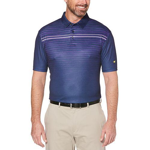 Men's Jack Nicklaus Regular-Fit StayDri Gradient-Striped Heather Performance Golf Polo