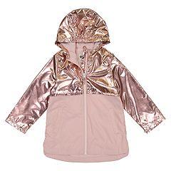 Toddler Girl OshKosh B'gosh® Metallic Lightweight Rain Jacket