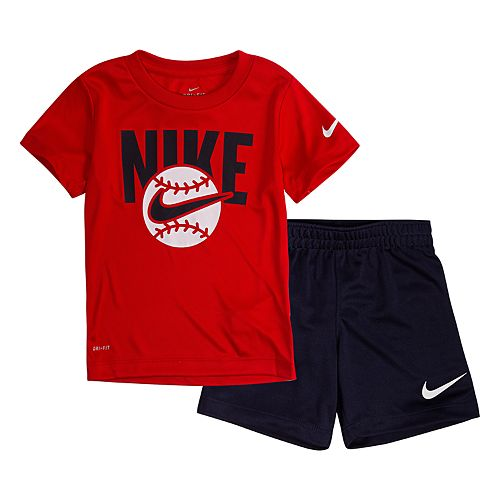 Toddler Boy Nike 2 Piece Tee & Shorts Set