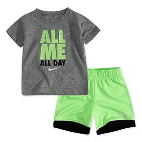 """Toddler Boy Nike 2 Piece """"All Me All Day"""" Tee & Shorts Set"""