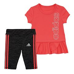 8ac608773 Baby Girl adidas Peplum-Hem Tunic & Capri Leggings Set
