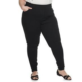 Plus Size EVRI Pull-On Ankle Skinny Jeans