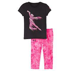 Baby Girl Under Armour Dance Tee & Tie-Dye Leggings Set