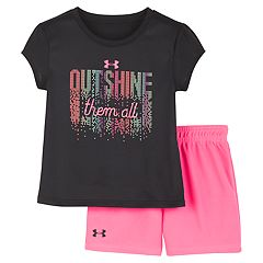 2d88fefbc Baby Girl Under Armour 'Outshine Them All' Graphic Tee & Shorts Set