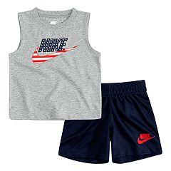 Toddler Boy Nike Americana Muscle Tank Top & Shorts Set