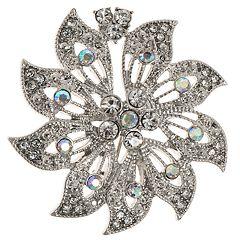 Napier Silver Tone Flower Pin