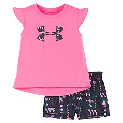Baby Girl Under Armour Best Life Tee & Shorts Set