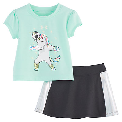 Baby Girl Under Armour Unicorn Tee & Skort Set