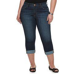Plus Size EVRI Midrise Capri Jeans