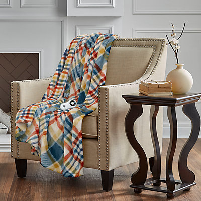 Serta Silky Plush Printed Warming Throw