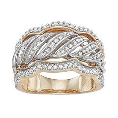 10k Gold 1/2 Carat T.W. Diamond Swirl Ring
