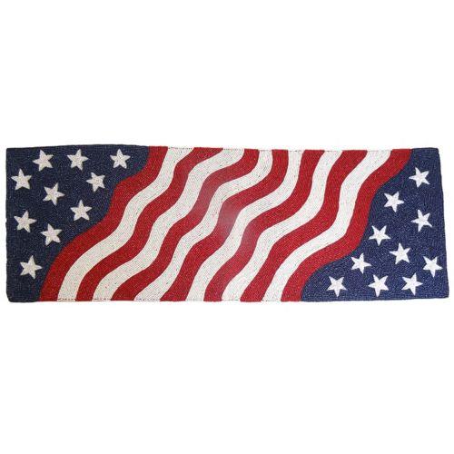 "Celebrate Americana Together Beaded Americana Table Runner - 36"""
