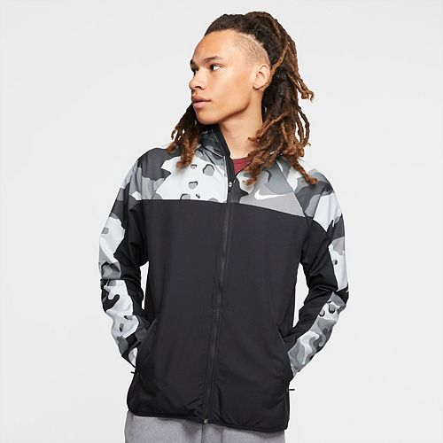 Nike Men's Full Zip Camo Training Hoodie