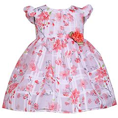 Baby Girl Bonnie Jean Floral Rosette Dress