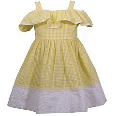 bce2c5d9bf Baby Girl Bonnie Jean Cold-Shoulder Seersucker Dress