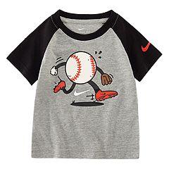 Toddler Boy Nike Baseball Character Raglan Tee
