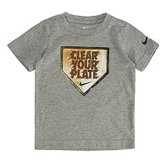 Toddler Boy Nike 'Clear Your Plate' Baseball Graphic Tee