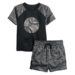 Toddler Boy Jumping Beans® Active Raglan Tee & Shorts Set