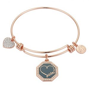"""LovethisLife® """"Sisters"""" Heart Bangle Bracelet"""