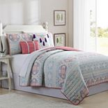 Pacific Coast 5-piece Rama Reversible Quilt Set