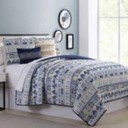 Pacific Coast 5-piece Sharon Reversible Quilt Set