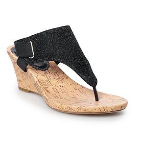 Croft & Barrow Encaustic Women's Wedge Sandals