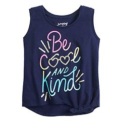 0073a9971 Toddler Girl Jumping Beans® Knot-Front Tank Top